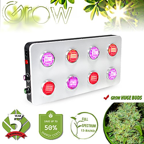 Grow Light COB Dimmable Switch 12-Band 2 Dimmers 8...