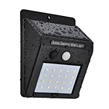 20 LED Solar Motion Sensor Security Light, 2-in-1 Wireless Weatherproof Wall Light Security Solar Motion Sensor Lamp for Door, Garden, Patio, Driveway, Walkway, Yard, Gate (1 PACK Black)