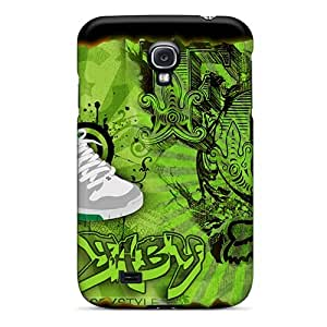 Special Saraumes Skin Case Cover For Galaxy S4, Popular Dc Fox Green Phone Case