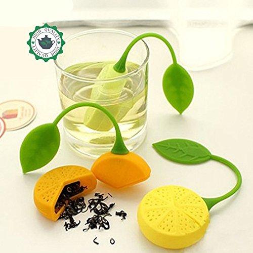 5pcs Tea Strainer Silicone Drinker Teapot Teacup Herb Tea Strainer Filter Infuser Lemon Bag