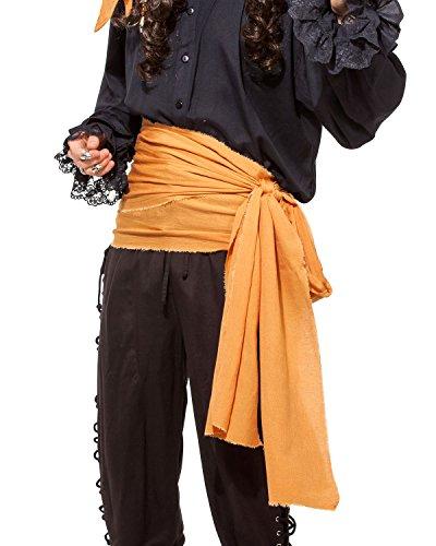Halloween Pirate Medieval Renaissance Linen Large Sash [Orange]