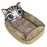 Cheap Plush Soft Warm Cozy Pet Bolster Cushion Bed Mat for Small Dog Cat Rabbit Ferret Puppy Washable