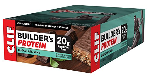 Clif Builders Protein Bar   Chocolate Mint    2 4 Ounce Non Gmo Bar  12 Count