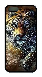 iPhone 5 5S Case Tiger Splash TPU Custom iPhone 5 5S Case Cover Black