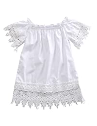 Toddler Infant Baby Girl Clothes Summer Lace Flower Party Wedding Dresses Outfits