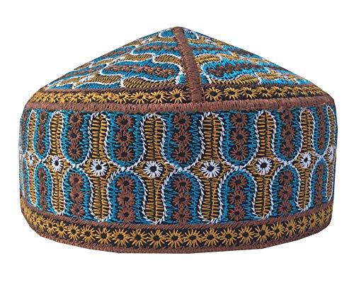 Special Afgani Cap Hand Embroidered Islamic Muslim Knitting Kufi Topi Prayer Hat Skull Cap (TK10)