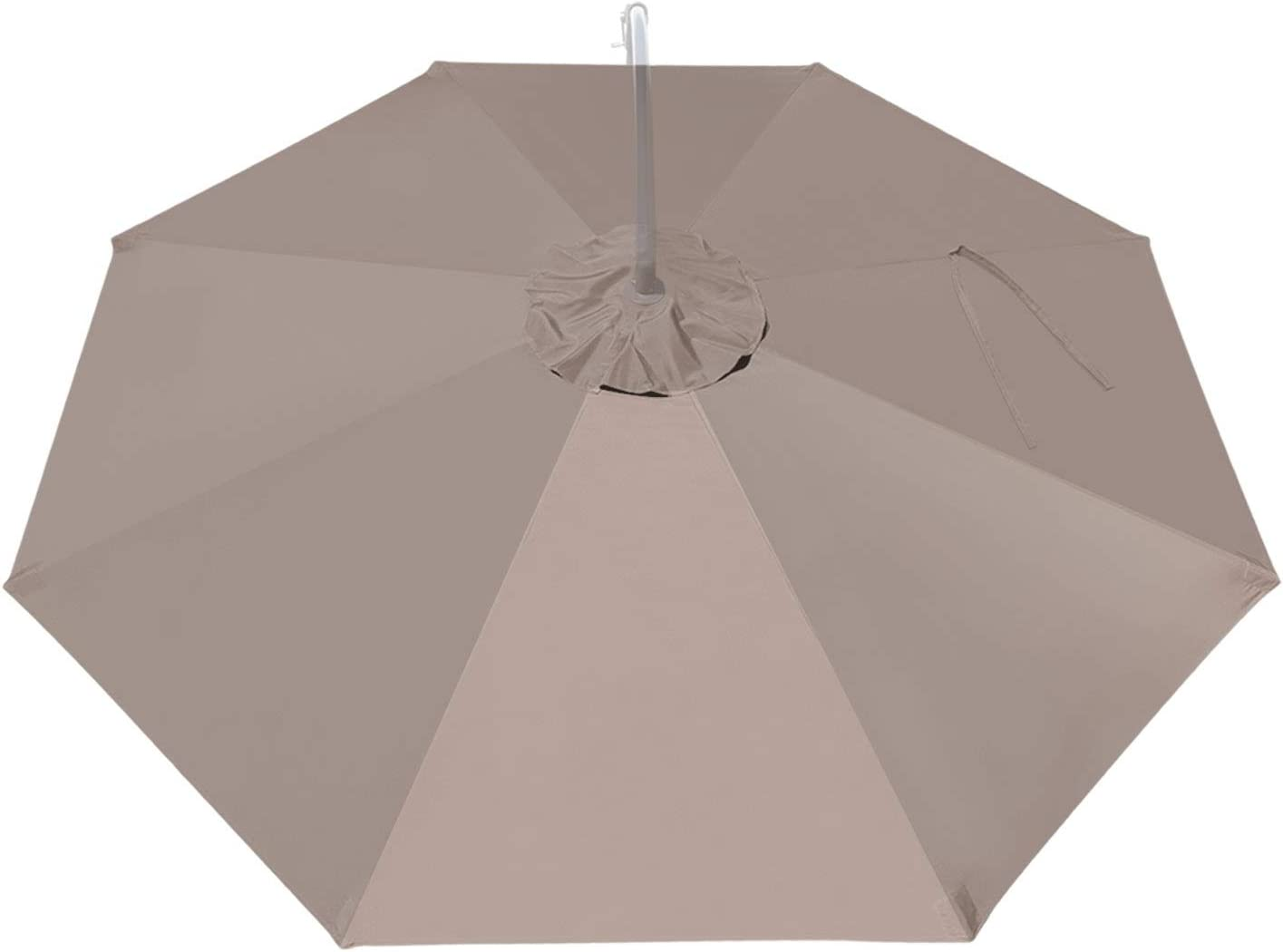 BenefitUSA Replacement Umbrella Canopy for 10ft 8 ribs (Canopy Only) (Taupe)