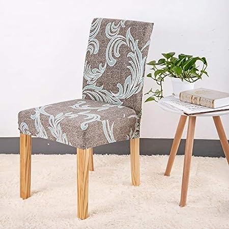 XSYYQYLL 4 ST/ÜCKE Forcheer Stuhlhussen Moderne K/üche Sitzbezug Hochzeit Stuhlhussen Spandex Elastische Blumendruck for Esszimmer Color : Color1, Specification : Universal Size