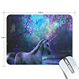 Mouse Pad Beautiful Unicorn Gaming Mousepad Computer Small Thick Mouse Mat Black Marvellous Mouse Pads