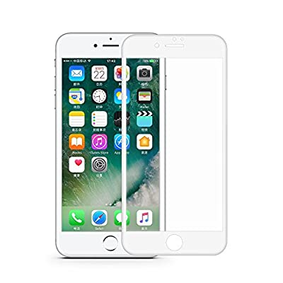 iPhone 7 Screen Protector Glass, VRURC 3D Curved Edge to Edge Full Screen Coverage Tempered Glass Screen Protectors for Apple iPhone 7, 3D Touch Compatible