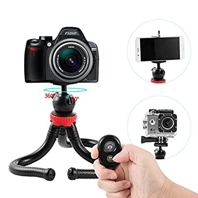 Tripod for Phone, WeyTy Flexible and lightweight tripod stand 12 inch mini tripod with Bluetooth Remote Control Travel Tripodfor iphone/ipad /Gopro/SLR Camera