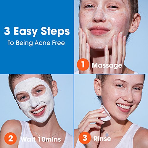 AcneFree Sulfur Mask 1.7 oz Acne Treatment for Clearing Acne, Absorbing Excess Oil and Unclogging Pores with Vitamin C and Bentonite Clay