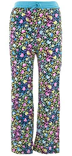 - SWEET N SASSY Big Girls' Leopard Hearts Blue Pajama Pants 7-8