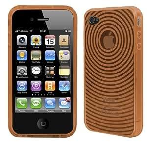 Logotrans Orbit Series - Funda de silicona para iPhone 4, color naranja