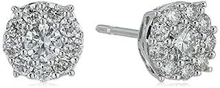 18k White Gold Diamond Frame Stud Earrings (5/8cttw) (B071GR84LL) | Amazon Products