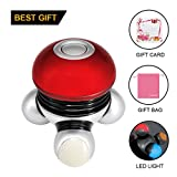 Hand Held Massager Mini Portable Body Vibrating Massage with Led Light Perfect for Hand Head Neck Back Legs Arms Face Pain Release with Gift Bag And Gift Card (Battery Operated)