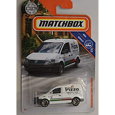 Matchbox Service Volkswagen Caddy DELIVERY 20/20, White: Toys & Games