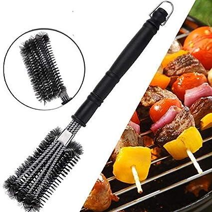 GEMITTO Cepillo de Limpieza para Barbacoa, Diseño 4 en 1 18BBQ Cepillo