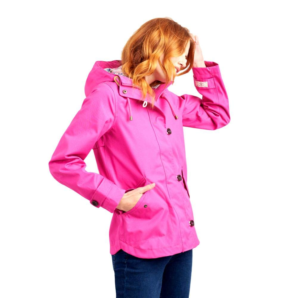 Joules, Coasted Hooded Jacket, Pink, 2