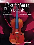 Solos for Young Violinists - Violin Part and Piano Accompaniment, Volume 3: Selections from the Student Repertoire