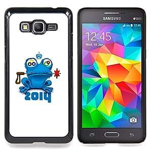 - Frog Prince Fairytale Animal Nature Blue Crown - Caja del tel????fono delgado Guardia Armor- For Samsung Galaxy Grand Prime G530H G5308 Devil Case