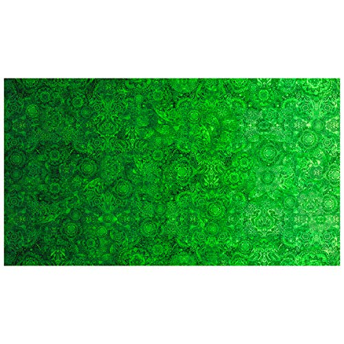 QT Fabrics Bohemian Rhapsody Fabric, Green River, Fabric By The Yard