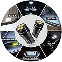 SEALIGHT 194 LED Light Bulb 6000K 168 T10 2825 SMD LED Replacement Bulbs for Car Dome Map Door Courtesy License Plate Lights (Pack of 2)