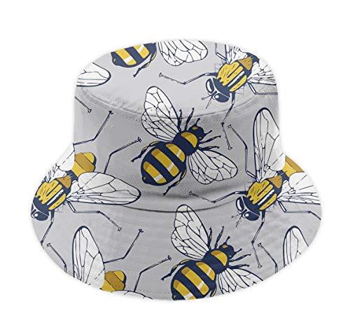 YongColer Bee Flying Unisex Casual Bucket Cap Wide Brim Fisherman Hat