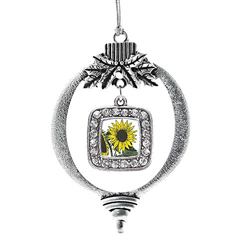 Inspired Silver Sunflower Classic Holiday Decoration Christmas Tree Ornament