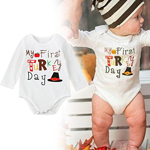 (Baby Clothes Romper Thanksgiving, TRENDINAO