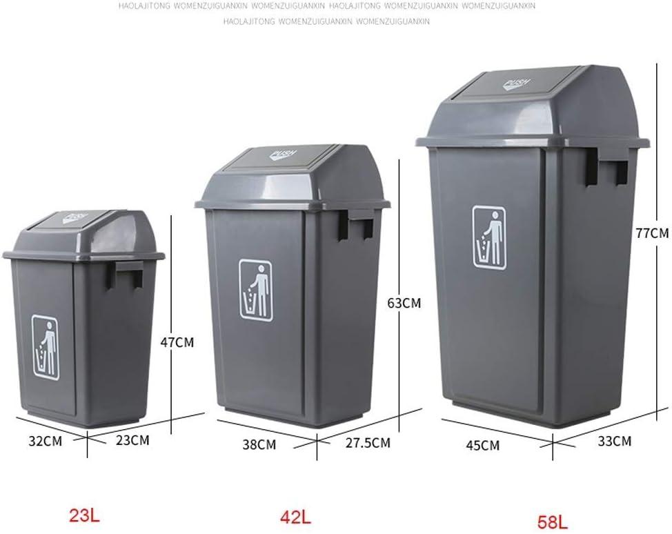 CYQ Dispenser Grande per Cestino Quadrato in plastica per Esterni con Coperchio a Battente per Tessuti Commerciali