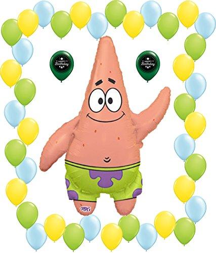 (Combined Brands Spongebob Square Pants Patrick Star Balloon Party Decorating Bundle)