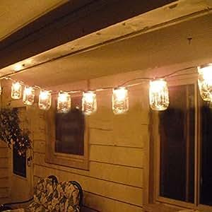 GreenDream 12 Pack Solar Mason Jar Lid Insert (Mason Jar not Included), 10 LED Solar Fairy Warm White Light for Glass Mason Jars and Garden Decor Solar Lights (warmwhite)