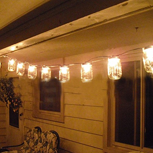 outdoor mason jar lights - 8