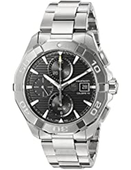 TAG Heuer Mens Aquaracer Swiss Automatic Stainless Steel Dress Watch, Color:Silver-Toned (Model: CAY2110.BA0927)