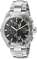 TAG Heuer Men's 'Aquaracer' Swiss Automatic Stainless Steel Dress Watch, Color:Silver-Toned (Model: CAY2110.BA0927)