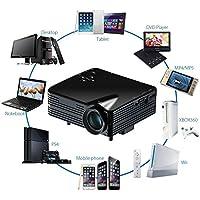 Multimedia LED Projector Aobiny 1080P HD Home Cinema Theater AV VGA USB HDMI