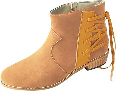 Luotuo Femme Boots Chaussures Classiques Chaudes Botte Rome