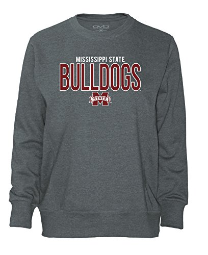 Dog Womens Golf Shirt - Old Varsity Brand NCAA Mississippi State Bulldogs Women's Long Sleeve French Terry Polo Shirt, Dark Heather, Small