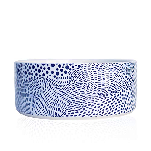 Should We Go? Ceramic Dog Bowl: Cute, Modern Food and Water Bowl for Dogs. This Pet Dish is Heavy, Tough to Tip Over, Dishwasher/Microwave Safe. New Puppy Gift! (M/L: 7