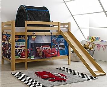 Etagenbett Holz Rutsche : Disney cars etagenbett hochbett kinderbett natur buche massiv holz