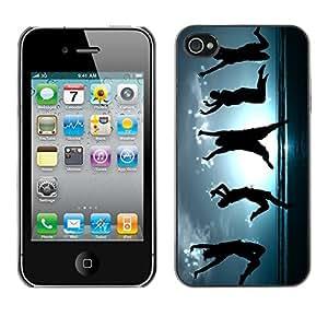 Cubierta de la caja de protección la piel dura para el Apple iPhone 4 / 4S - Happy Dancing People