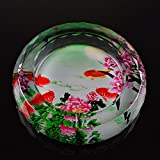 WAWZJ Crystal glass creative, high-end fashion simple living room table office China wind ashtray,C