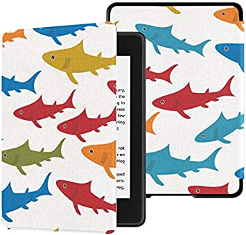Kindle Paperwhite Ereader Case Fish Pattern Colorido Summer Supply ...