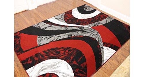 Black Swirl Rug - 6