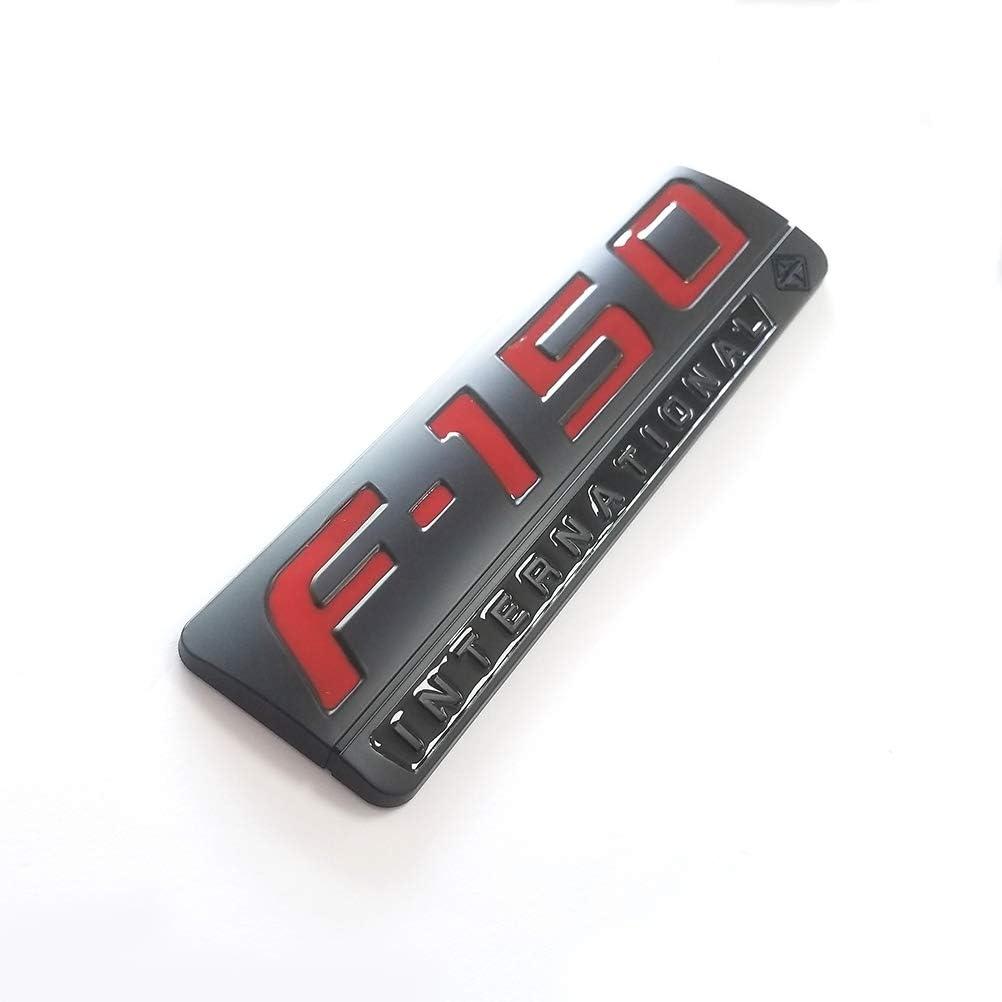 2pcs OEM F-150 International Side Door Fender Emblems Badges Pair New 3D Logo Replacement for F150 Black