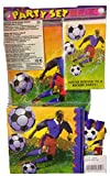Soccer Party Set for 8 with Invitations (65pcs)