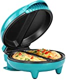 Holstein Housewares HH-09125007E Omelet Maker, Teal/Stainless Steel
