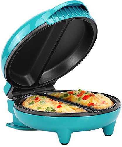 (Holstein Housewares HH-09125007E Omelet Maker Teal/Stainless Steel)