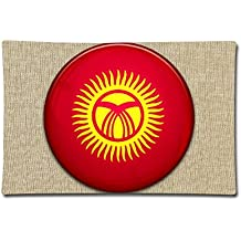 "LoveoorheebGH Flag Of Kyrgyzstan Home Decoration Cotton Linen Pillow 20"" X 30"""